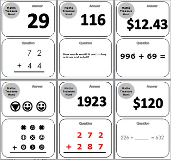 Addition and Subtraction Treasure Hunt Activity
