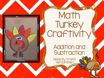 Addition and Subtraction Turkey Craftivity
