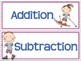 Addition and Subtraction Word Problem Sort: Winter Sums to 100