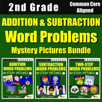 2nd Grade Addition Word Problems, Subtraction Story Proble