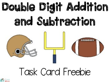 Addition and Subtraction Word Problems Football Freebie