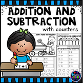 Addition and Subtraction Worksheets Using Counters
