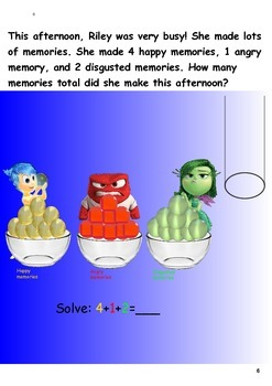 Addition and Subtraction activities with Disney's Inside O