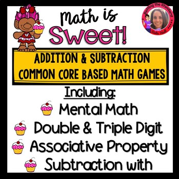 Sweet Addition and Subtraction games- double and triple digit