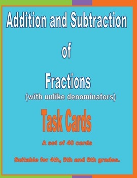Addition and Subtraction of Fractions (unlike denominators