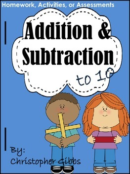 Addition and Subtraction to 10 NO PREP Activities or Assessments