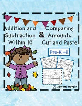 Addition and Subtraction to 10 and Comparing Numbers