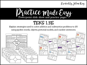 Addition and Subtraction to 20: Practice Made Easy: TEKS 1