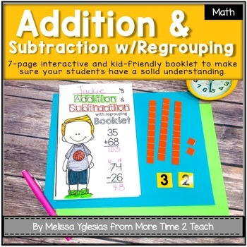 Addition and Subtraction with Regrouping Theme Booklet {Ma