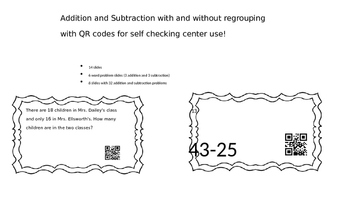Addition and Subtraction with and without regrouping with