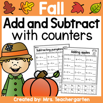 Fall Addition and Subtraction with counters