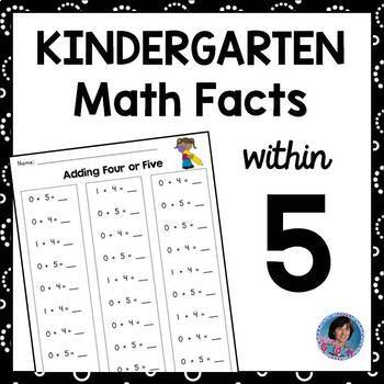 Addition and Subtraction within Five ~ Kindergarten Math F