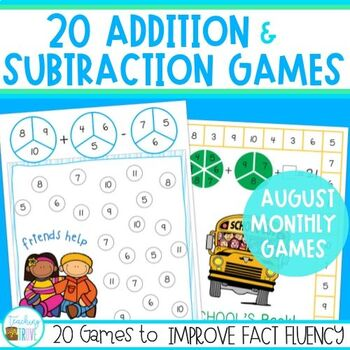 Addition and Subtraction Fact Fluency for August