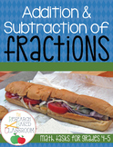 Addition and Subtraction with Fractions: Math Tasks for Gr