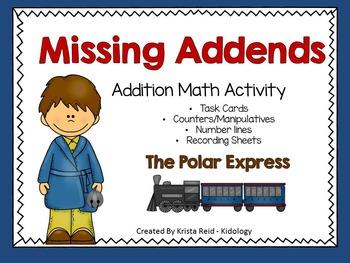 Addition center, activity, game and printables - Polar Express