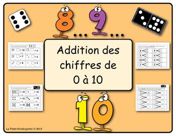Addition des chiffres de 0 à 10