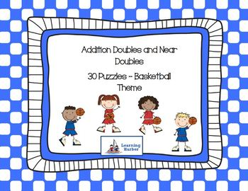 Addition of Doubles and Near Doubles Puzzles with a Basket
