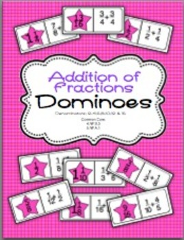 Addition of Fractions Dominoes