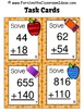 Addition of Multi-Digit Whole Numbers Within 1000 Task Cards