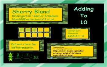 St. Patrick's Day Smartboard Adding to 10