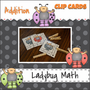 Addition to 10 Math Facts Self Checking Clip Cards
