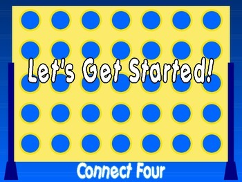 Addition to 20 : Connect Four PowerPoint Game