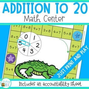 Addition to 20 Math Center