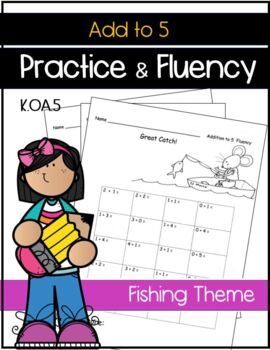 Addition to 5 Facts Drills Kindergarten Common Core SPRING