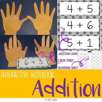 Addition up to 10 Interactive Notebook - Cuaderno interact