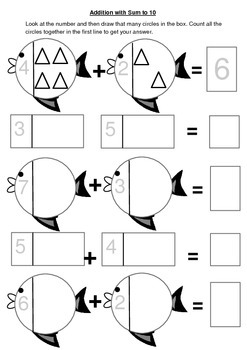 Addition using pictures and number correspondence