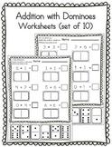 Addition with Dominoes (Cut & Paste) - 10 worksheets