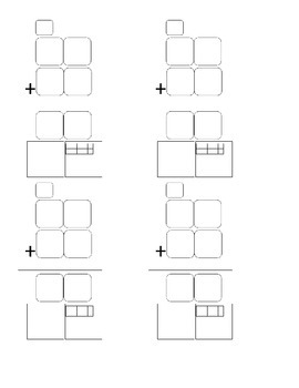 Addition with Regrouping Graphic Organizer