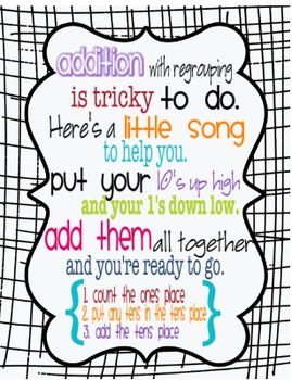 Addition with Regrouping Poem