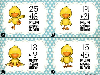 Addition with Regrouping QR Scoot