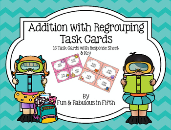Addition with Regrouping Task Card Set