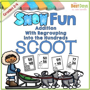 Addition with Regrouping into the Hundreds Place Scoot:  W