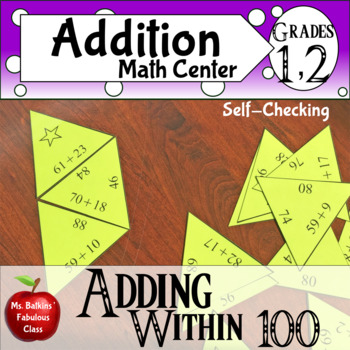 Adding within 100 Math Center with regrouping