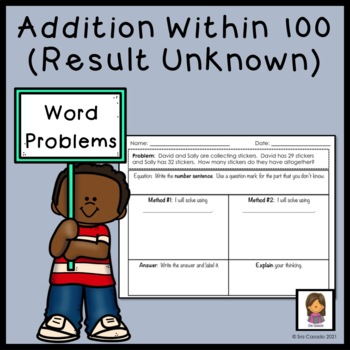 Addition within 100 Word Problems (2nd Grade Math) English