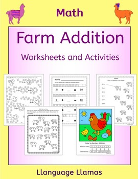 Farm Addition worksheets and activities including fun Colo