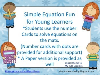 Addition/Subtraction Simple Equations