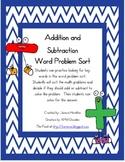 Addition/Subtraction Word Problem Sort