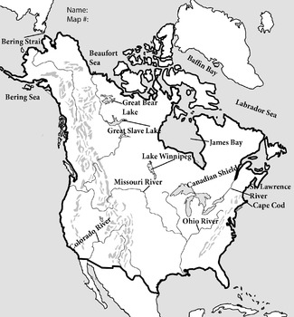 Additional Items for U.S. Canada North America Mapping Lab