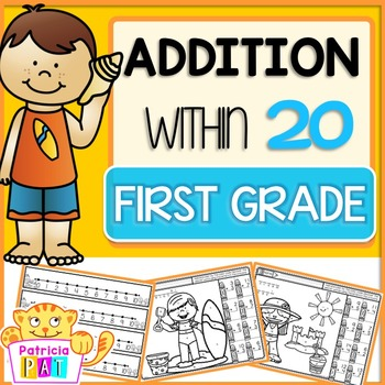Color by Code Addition Worksheets Summer