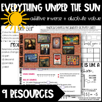 Additive Inverse + Absolute Value Lesson