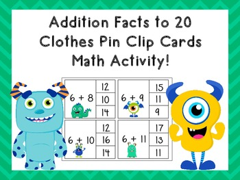 Addition to 20 Clip Cards