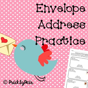 Addressing Envelopes Practice