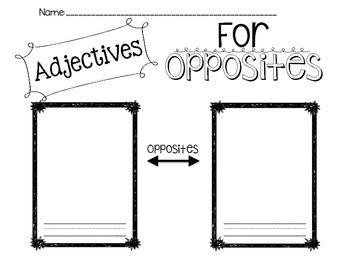 Adjectives for Opposites