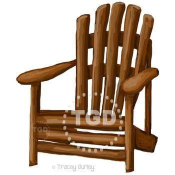 Adirondack Chair clip art, adirondack chair Printable Trac