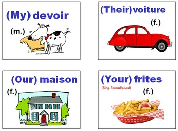 Adjectifs Possessifs Bundle