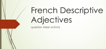Adjective Agreement : question mixer activity